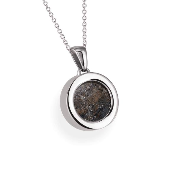 Meteorite Coin - Kette mit Anhänger Silber