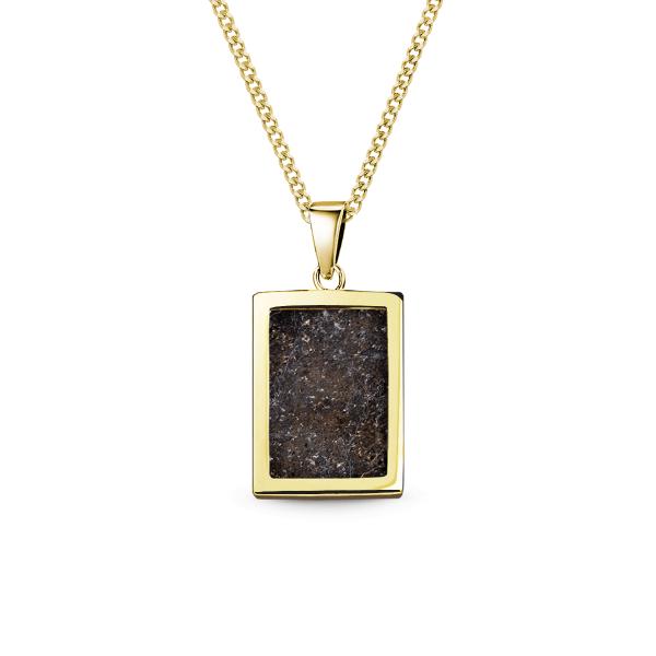 Meteorit Goldbarren - Kette mit Anhänger eckig