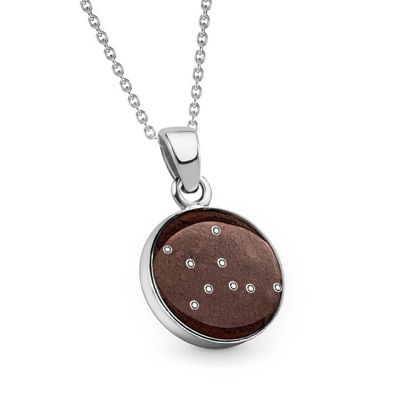 Kette Sternzeichen Jungfrau - Meteorite Stern Taler 12 mm