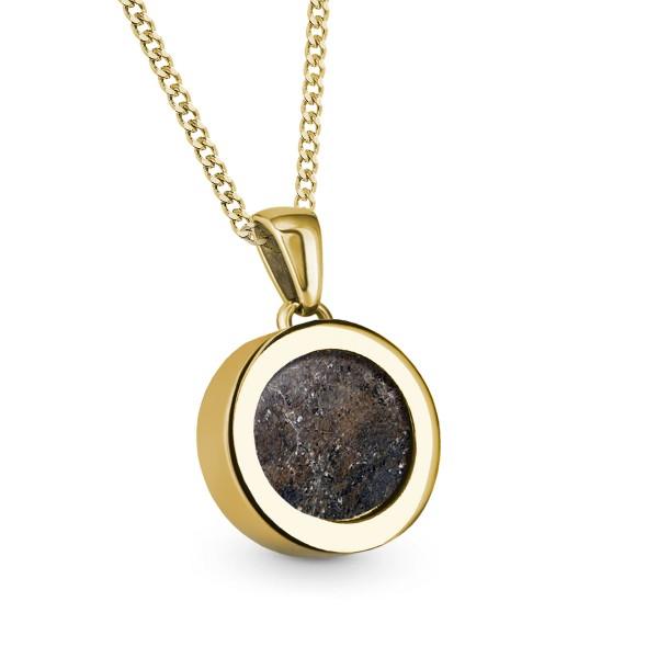 Meteorite Coin - Kette mit Anhänger Gold